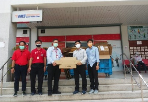 """AGC Ambassador """" Gives paper crates to Thai Post Office for field beds """""""